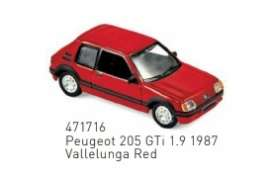 Peugeot  - 205 GTi 1.9 1987 red - 1:87 - Norev - 471716 - nor471716 | The Diecast Company