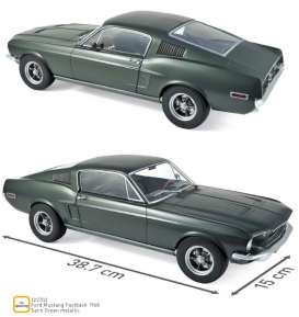 Ford  - Mustang Fastback 1968 green metallic - 1:12 - Norev - 122702 - nor122702 | The Diecast Company