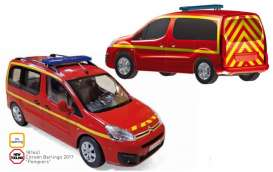 Citroen  - Berlingo 2017 red/yellow - 1:18 - Norev - 181641 - nor181641 | The Diecast Company