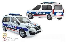 Peugeot  - Partner 2017 white/blue - 1:18 - Norev - 184891 - nor184891 | The Diecast Company