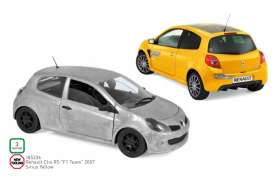 Renault  - Clio 2007 yellow - 1:18 - Norev - 185236 - nor185236 | The Diecast Company