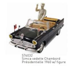 Simca  - Vedette 1960 black - 1:43 - Norev - 574032 - nor574032 | The Diecast Company