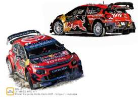 Citroen  - C3 2019 red/black - 1:18 - Norev - 181645 - nor181645 | The Diecast Company