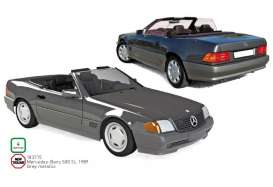 Mercedes Benz  - 500 SL 1989 grey - 1:18 - Norev - 183715 - nor183715 | The Diecast Company