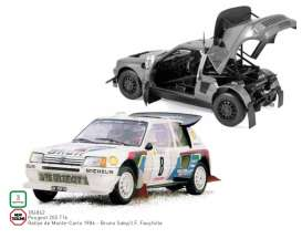 Peugeot  - 205 T16 1986 white/red/blue - 1:18 - Norev - 184862 - nor184862 | The Diecast Company