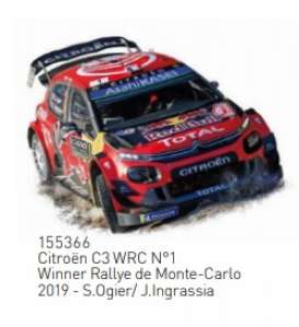 Citroen  - C3 2019 red/black - 1:43 - Norev - 155366 - nor155366 | The Diecast Company