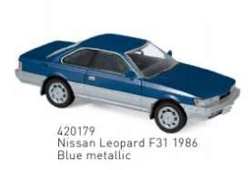 Nissan  - Leopard 1862 blue - 1:43 - Norev - 420179 - nor420179 | The Diecast Company