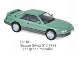 Nissan  - Silvia 1862 light green - 1:43 - Norev - 420181 - nor420181 | The Diecast Company