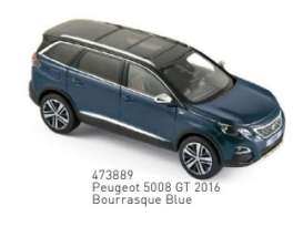 Peugeot  - 5008 GT 2016 blue - 1:43 - Norev - 473889 - nor473889 | The Diecast Company