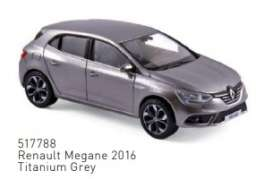 Renault  - Megane 2016 grey - 1:43 - Norev - 517788 - nor517788 | The Diecast Company