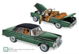 Mercedes Benz  - 230 SE 1969 green - 1:18 - Norev - 183434 - nor183434 | The Diecast Company