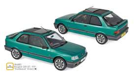 Peugeot  - 309 GTi 1991 green - 1:18 - Norev - 184883 - nor184883 | The Diecast Company