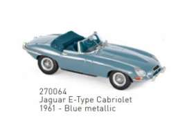 Jaguar  - E-Type 1961 blue - 1:43 - Norev - 270064 - nor270064 | The Diecast Company