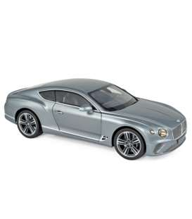 Bentley  - Continental 2019 grey - 1:18 - Norev - 182780 - nor182780 | The Diecast Company