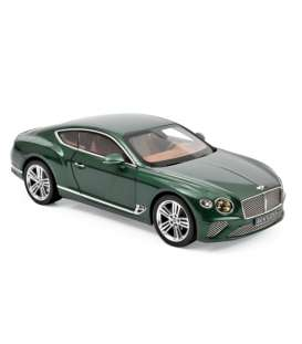 Bentley  - Continental 2018 green - 1:18 - Norev - 182782 - nor182782 | The Diecast Company