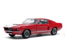 Shelby  - Mustang GT500 red/white - 1:18 - Solido - 1802902 - soli1802902 | The Diecast Company