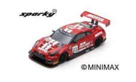 Nissan  - GT-R Nismo 2018 red/white - 1:64 - Spark - Y128 - spaY128 | The Diecast Company