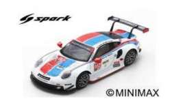 Porsche  - 911 RSR 2019 white/red/blue - 1:64 - Spark - Y136 - spaY136 | The Diecast Company