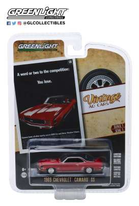 Chevrolet  - Camaro SS 1969 orange - 1:64 - GreenLight - 39020A - gl39020A | The Diecast Company