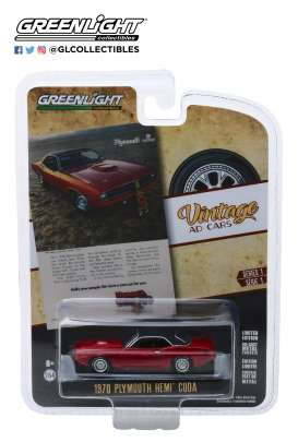 Plymouth  - Hemi Cuda 1970 red - 1:64 - GreenLight - 39020C - gl39020C | The Diecast Company