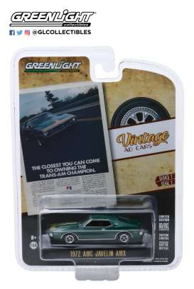 AMC  - Javelin 1972 green - 1:64 - GreenLight - 39020D - gl39020D | The Diecast Company