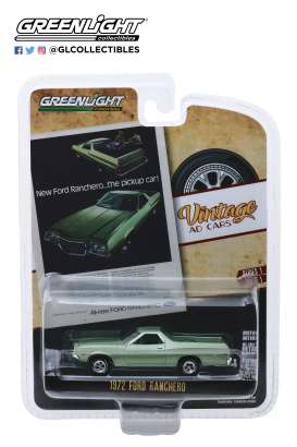 Ford  - Ranchero 1972 green - 1:64 - GreenLight - 39020E - gl39020E | The Diecast Company