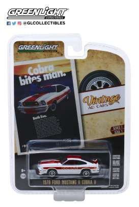 Ford  - Mustang II Cobra II 1978 white/red - 1:64 - GreenLight - 39020F - gl39020F | The Diecast Company