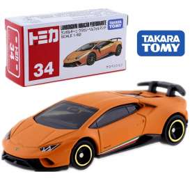 Lamborghini  - Huracan Performance orange - 1:62 - Tomica - 034 - to034 | The Diecast Company