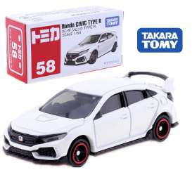 Honda  - Civic Type R white - 1:64 - Tomica - 058 - to058 | The Diecast Company