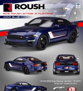 Roush Performance Ford - Mustang Stage 3 2019 blue/white - 1:18 - Acme Diecast - US020 - GTUS020 | The Diecast Company