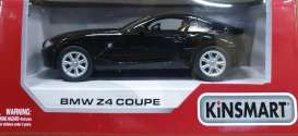 BMW  - Z4 Coupe black - 1:36 - Kinsmart - 5318W - KT5318W | The Diecast Company