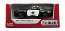 Ford  - Mustang GT 2015 black/white - 1:38 - Kinsmart - 5386WP - KT5386WP | The Diecast Company
