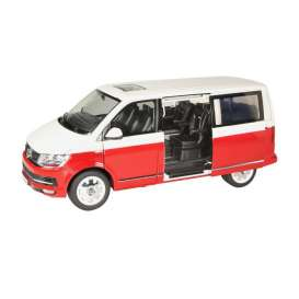 Volkswagen  - T6 Multivan Edition 30 2018 white/red - 1:18 - NZG - 95410010 - NZG95410010 | The Diecast Company