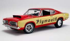 Plymouth  - Super Stock Barracuda 1968 yellow/red - 1:18 - Acme Diecast - 1806114 - acme1806114 | The Diecast Company