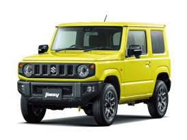 Suzuki  - Jimny 2018 kinetic yellow - 1:32 - Aoshima - 05776 - abk05776 | The Diecast Company
