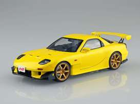 Mazda  - FD3S RX-7 *Initial D* yellow - 1:24 - Aoshima - 05622 - abk05622 | The Diecast Company