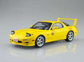 Mazda  - FD3S RX-7 *Initial D* yellow - 1:24 - Aoshima - 05623 - abk05623 | The Diecast Company