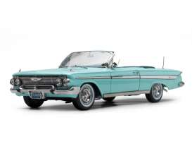 Chevrolet  - Impala convertible 1961 seafoam green - 1:18 - SunStar - 3409 - sun3409 | The Diecast Company