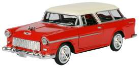 Chevrolet  - Bel Air Nomad 1955 red - 1:24 - Motor Max - 73248 - mmax73248r | The Diecast Company