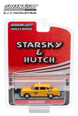 Checker  - Taxi Metro Cab 1968 yellow - 1:64 - GreenLight - 44855C - gl44855C | The Diecast Company