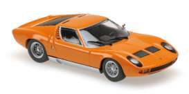 Lamborghini  - Miura 1966 orange - 1:87 - Minichamps - 870103021 - mc870103021 | The Diecast Company