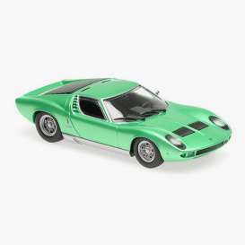 Lamborghini  - Miura 1966 green - 1:87 - Minichamps - 870103022 - mc870103022 | The Diecast Company