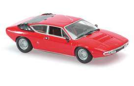 Lamborghini  - Urraco 1974 red - 1:87 - Minichamps - 870103321 - mc870103321 | The Diecast Company
