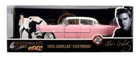 Cadillac  - Fleetwood *Elvis Prrsley* 1955 pink/white - 1:24 - Jada Toys - 31007 - jada31007 | The Diecast Company
