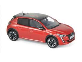 Peugeot  - 208 GT Line 2019 red - 1:43 - Norev - 472832 - nor472832 | The Diecast Company