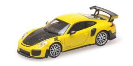 Porsche  - 911 2018 yellow - 1:87 - Minichamps - 870068124 - mc870068124 | The Diecast Company