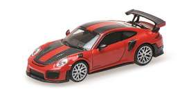 Porsche  - 911 2018 red - 1:87 - Minichamps - 870068126 - mc870068126 | The Diecast Company