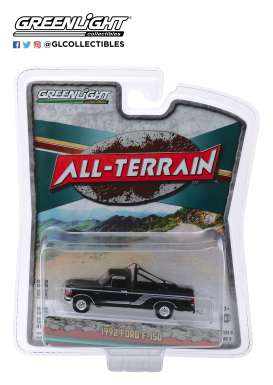 Ford  - F-150 1992 black/silver - 1:64 - GreenLight - 35150D - gl35150D | The Diecast Company