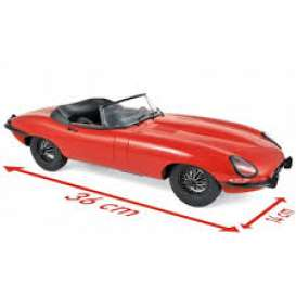 Jaguar  - E-Type Cabriolet 1962 red - 1:12 - Norev - 122720 - nor122720 | The Diecast Company