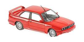 BMW  - M3 (E30) red - 1:43 - Maxichamps - 940020300 - mc940020300 | The Diecast Company